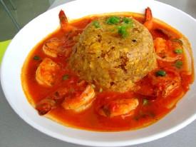 shrimp-mofongo