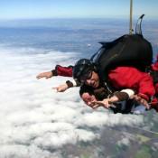 Skydiving in California, US