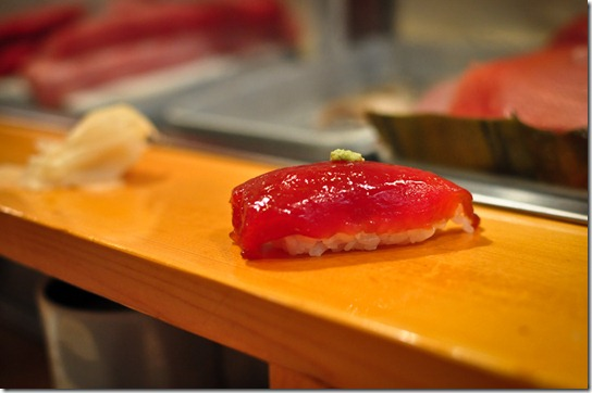maguro-zuke (marinated tuna)