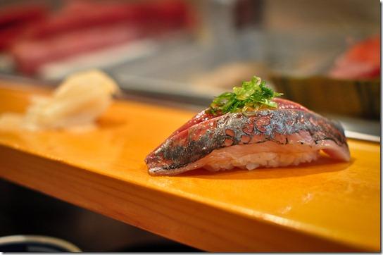 aji (horse mackerel) - Sushi Dai