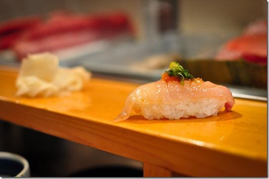 shima-aji (yellow jack) - Sushi Dai
