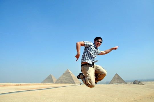 jumping egypt
