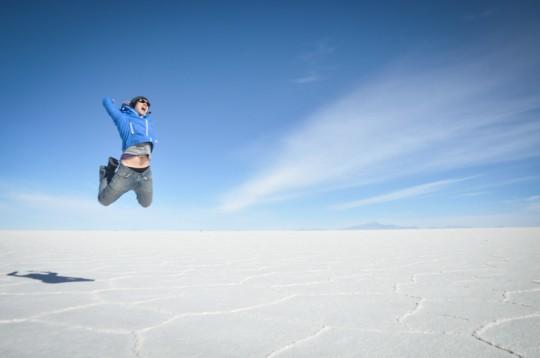 Jumping Salar de Uyuni