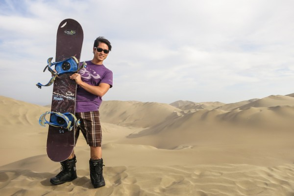 sandboard in huacachina peru