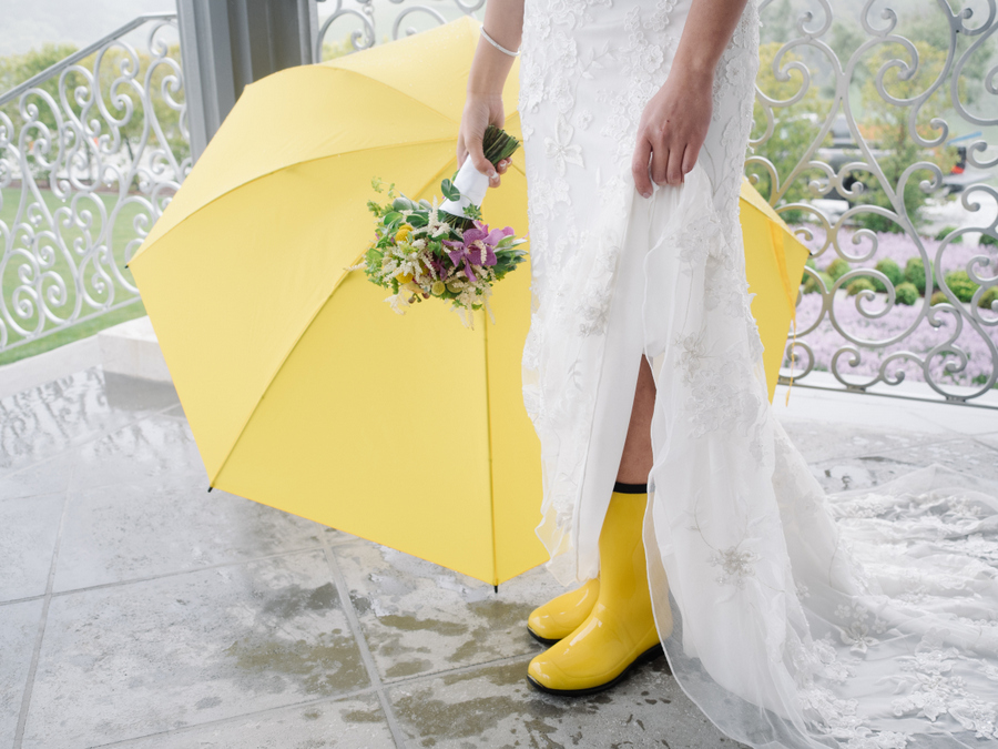 The Next Day I Received An Overnight Package For A Pair Of Bright School Bus Yellow Rain Boots And Larger Than Life How Met Your Mother Umbrella To