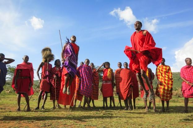 masaai mara jumping