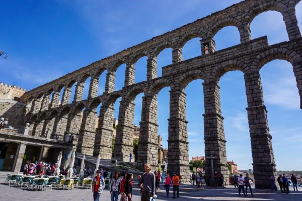 Segovia Aquaduct front