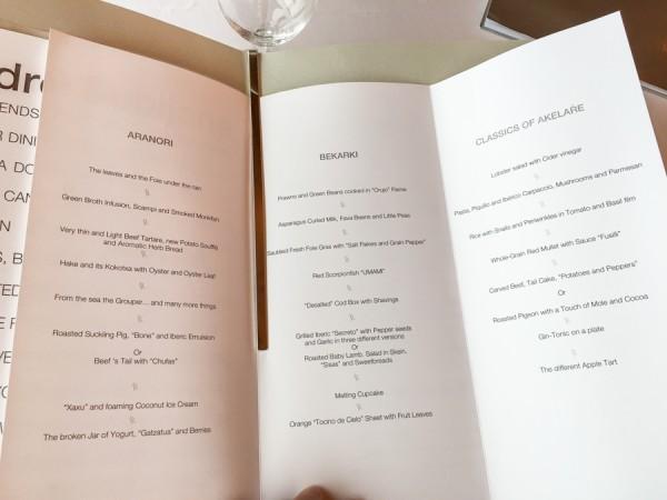 akelarre menu