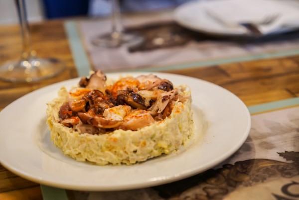potato octopus salad casa rubio