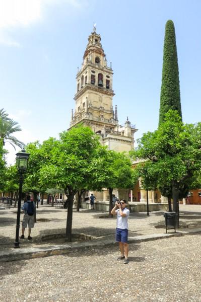 Outside the Mezquita Cordoba
