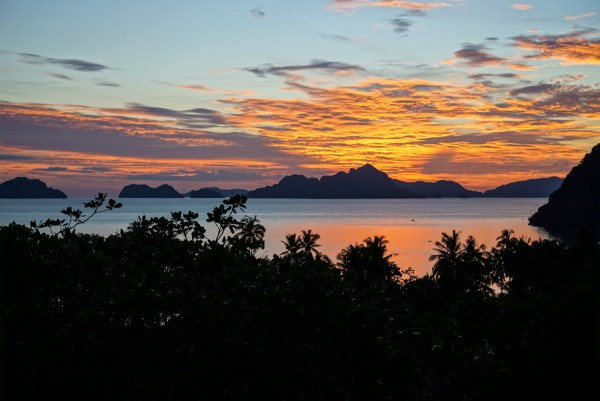 Overlooking El Nido Sunset