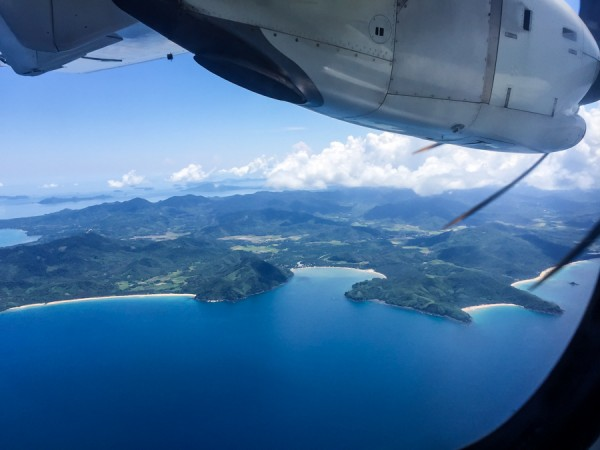 Flying over El Nido